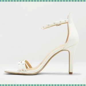 Women's Pump Heels Enya Studded Barely There white